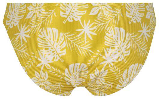 dames bikinibroekje - rib flower geel S - 22350232 - HEMA