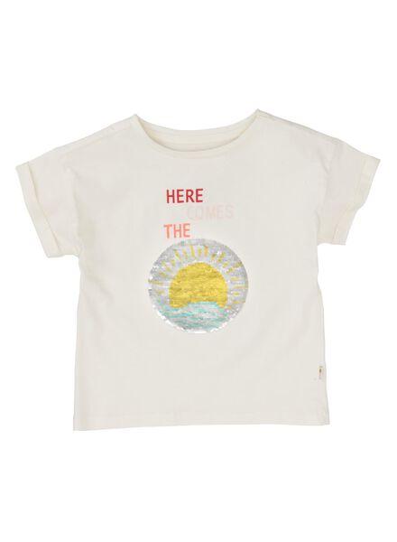 kinder t-shirt gebroken wit gebroken wit - 1000011940 - HEMA