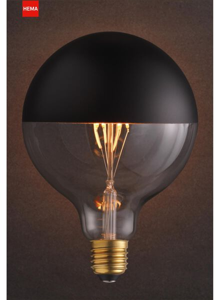 LED lamp 4W - 280 lm - globe - kopspiegel zwart - 20020062 - HEMA