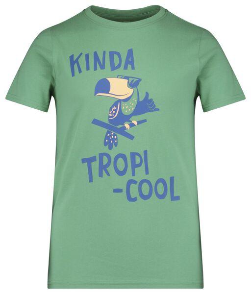 kinder t-shirt groen 86/92 - 30769720 - HEMA