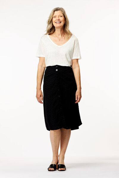dames t-shirt linnen wi. wi. - 1000024303 - HEMA