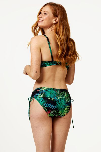 dames bikinitop met beugel cup B-E - flower groen 75B - 22350321 - HEMA