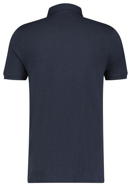 herenpolo jersey donkerblauw donkerblauw - 1000023568 - HEMA