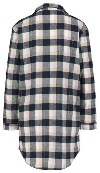 damesnachthemd flannel roze roze - 1000021691 - HEMA