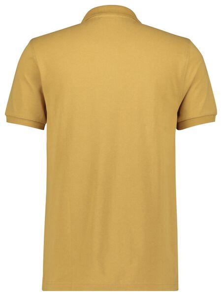herenpolo piqué geel XL - 34277538 - HEMA