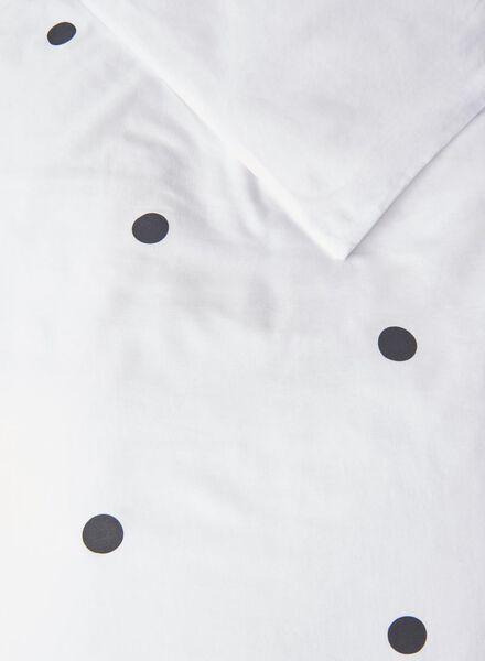 dekbedovertrek - zacht katoen - stippen wit wit - 1000016798 - HEMA