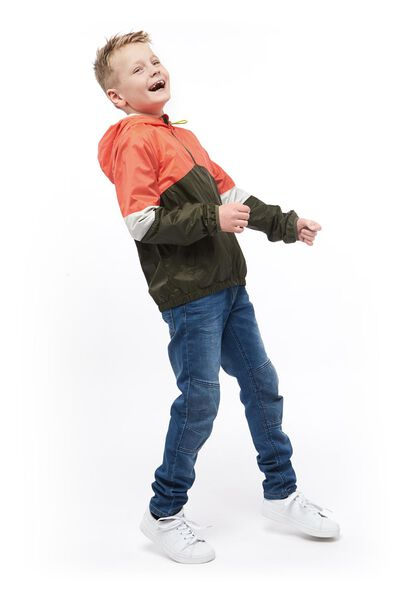 kinderjack met capuchon groen groen - 1000017754 - HEMA