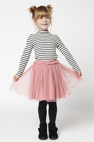 kinder t-shirt streep wit/zwart wit/zwart - 1000021024 - HEMA