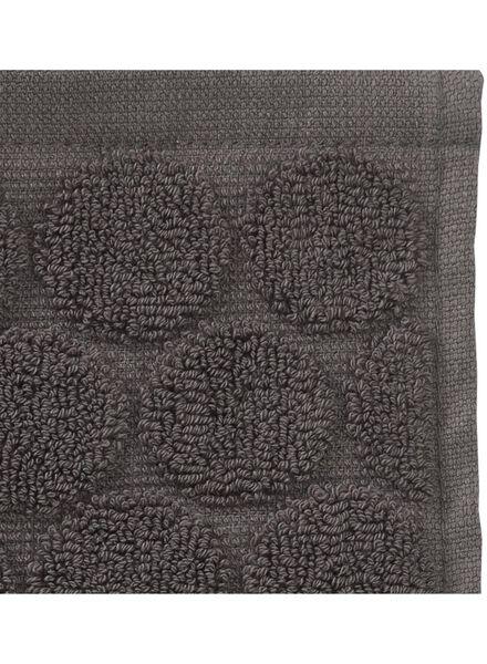 gastendoek - 30 x 55 cm cm - zware kwaliteit - donkergrijs stip - 5200055 - HEMA