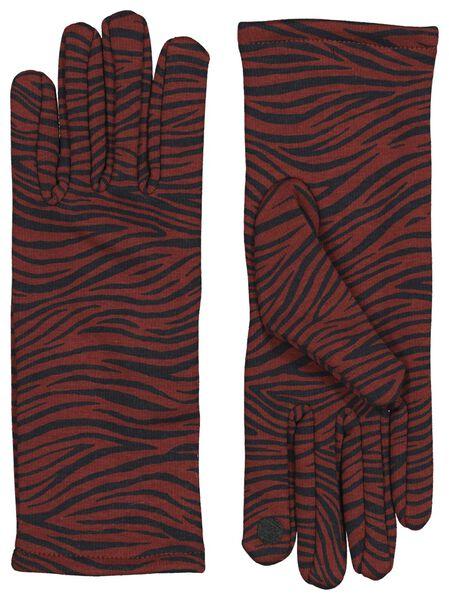 dameshandschoenen zebra cognac cognac - 1000020581 - HEMA