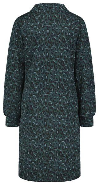 damesjurk luipaard groen groen - 1000021978 - HEMA