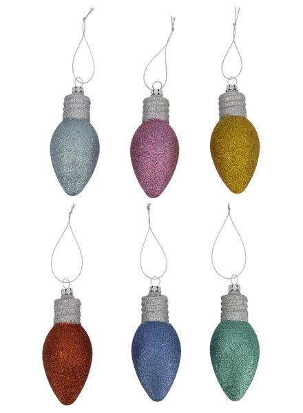 kersthangers met glitter - 11 cm - 6 stuks - 25100871 - HEMA
