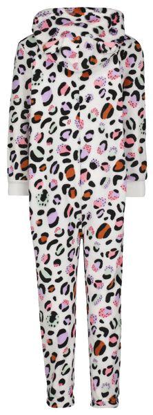 kinder badjas fleece luipaard roze multi multi - 1000025331 - HEMA
