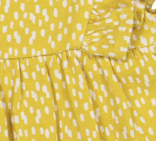 newborn romperjurk geel geel - 1000019264 - HEMA