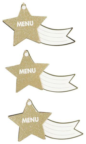 menukaartjes ster - 5 stuks - 25600145 - HEMA