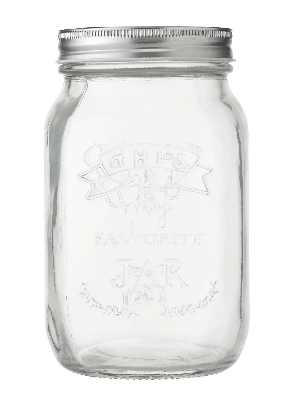 HEMA Glazen Pot 1L (transparant)
