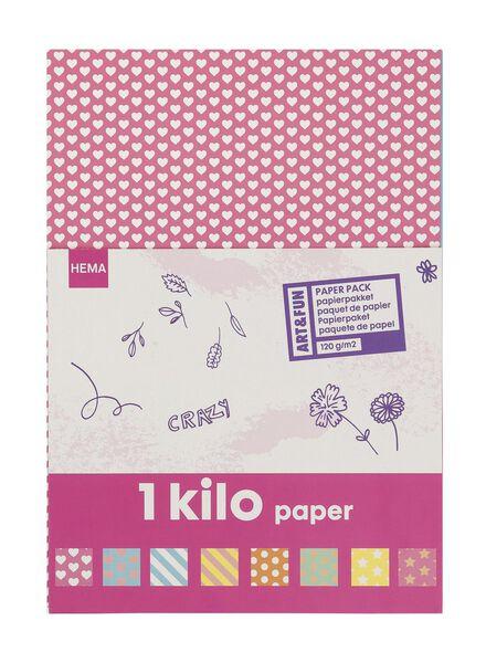 papierpakket 1 kilo - 15919277 - HEMA