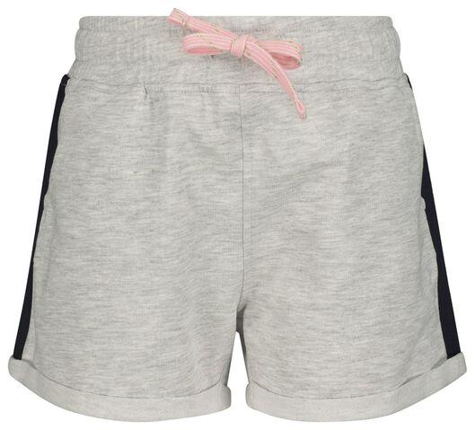 kinder sweatshort grijsmelange grijsmelange - 1000018494 - HEMA