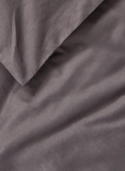 dekbedovertrek - zacht katoen - 140 x 200/220 cm - donkergrijs - 5700171 - HEMA