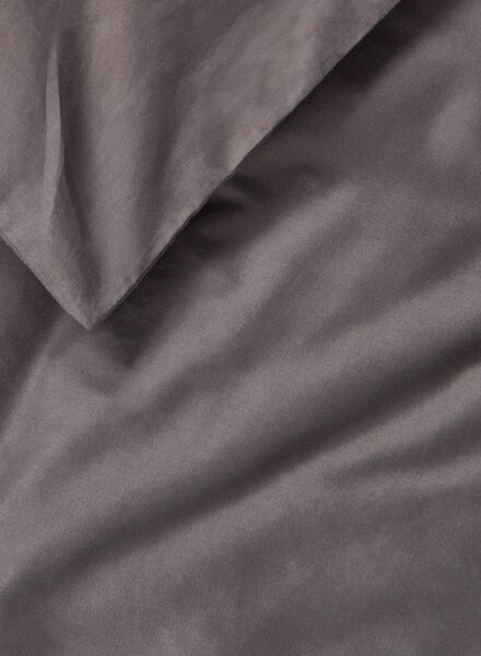 dekbedovertrek - zacht katoen - 200 x 200/220 cm - donkergrijs - 5700172 - HEMA