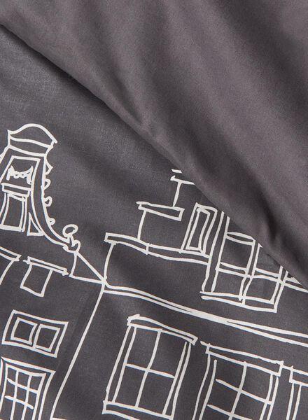 dekbedovertrek - zacht katoen - 200 x 200 cm - grijs print - 5700109 - HEMA