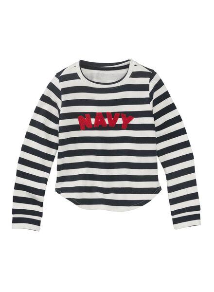 kindersweater donkerblauw donkerblauw - 1000011001 - HEMA