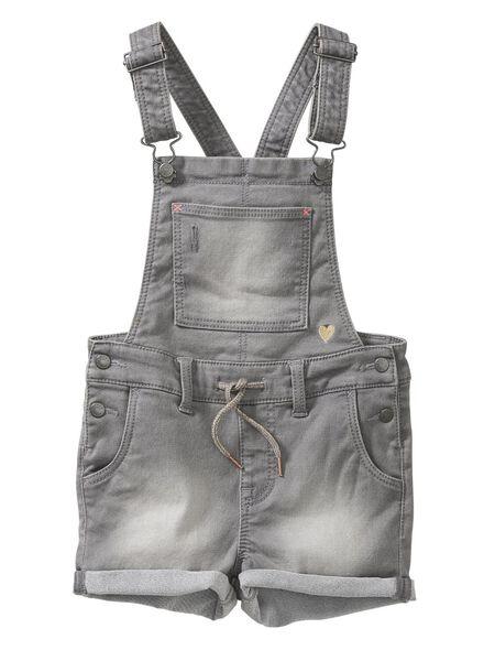 kinder tuinbroek grijs - 1000005763 - HEMA