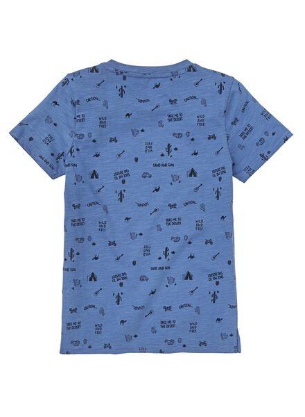 kinder t-shirt middenblauw middenblauw - 1000012714 - HEMA