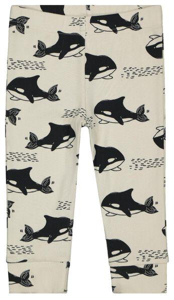 babypyjama rib orka's zwart/wit 86/92 - 33327522 - HEMA