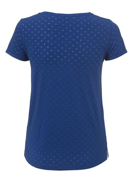 dames t-shirt blauw - 1000006766 - HEMA