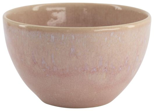 schaal - 14 cm - Porto - reactief glazuur - roze - 9602237 - HEMA
