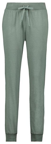 dames pyjamabroek katoen sweat groen L - 23422253 - HEMA