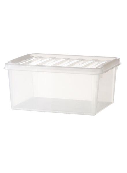 opbergbox 50 x 39 x 26 cm 50x 39 x 26 transparant - 39829659 - HEMA