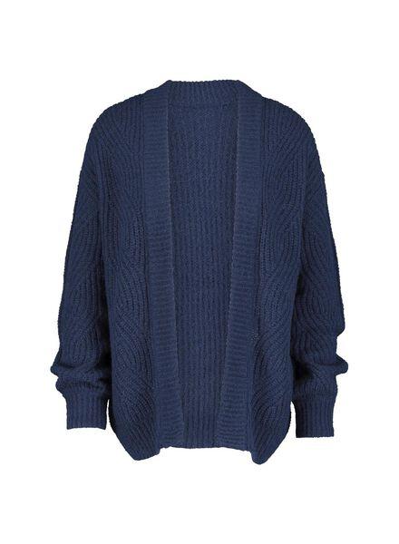damesvest gebreid donkerblauw donkerblauw - 1000015472 - HEMA