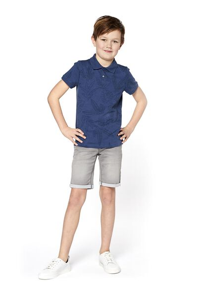 kinder jog denim short grijs 134/140 - 30763155 - HEMA