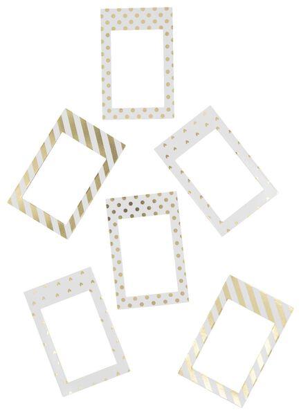 Instax magnetische fotolijst glitter - 6 stuks - 60300536 - HEMA