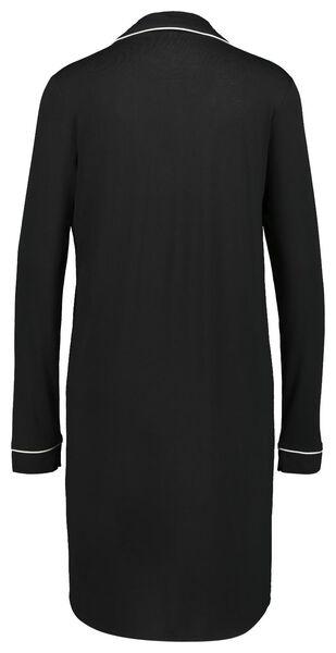 damesnachthemd zwart S - 23400371 - HEMA