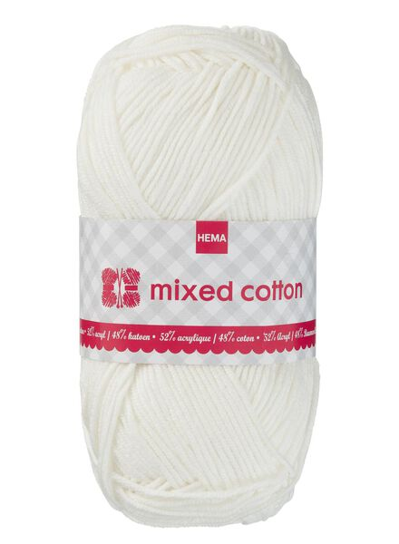 breigaren mixed cotton - off white mixed cotton creme - 1400154 - HEMA