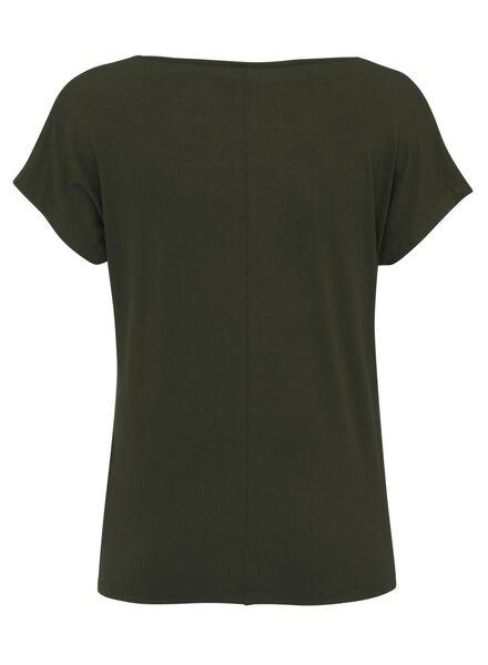 dames t-shirt legergroen legergroen - 1000008275 - HEMA