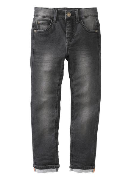 kinderbroek skinny zwart zwart - 1000003939 - HEMA