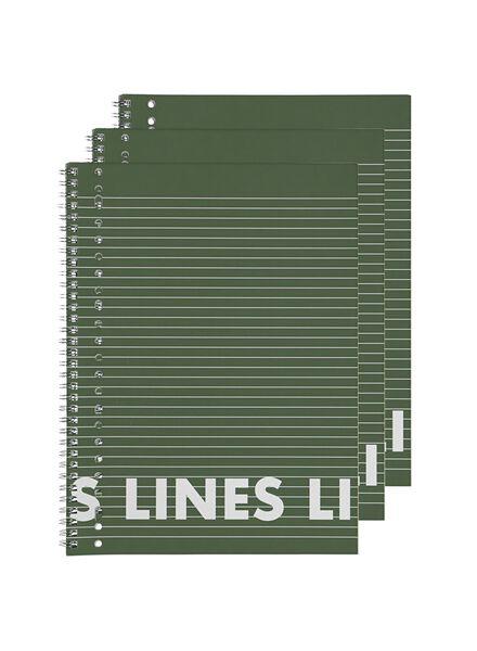 collegeblok A4 - gelinieerd - 3 stuks - 14101643 - HEMA