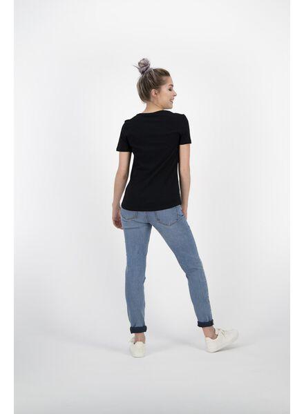 dames t-shirt zwart zwart - 1000011987 - HEMA