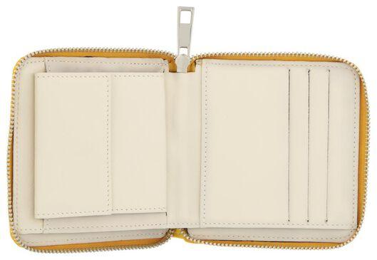 leren portemonnee geel - 18190018 - HEMA