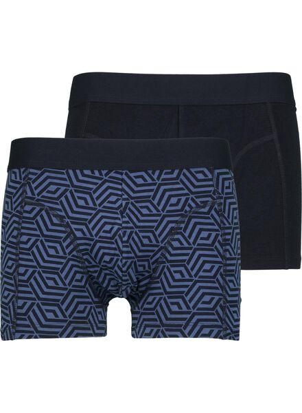 2-pak herenboxers met bamboe blauw blauw - 1000014679 - HEMA