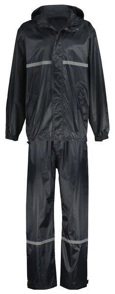 regenpak voor volwassenen blauw M - 34450102 - HEMA