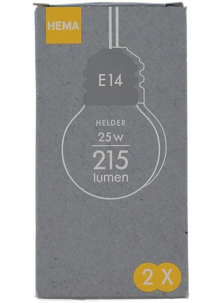 kogel gloeilamp 25w - kleine fitting - 20001140 - HEMA