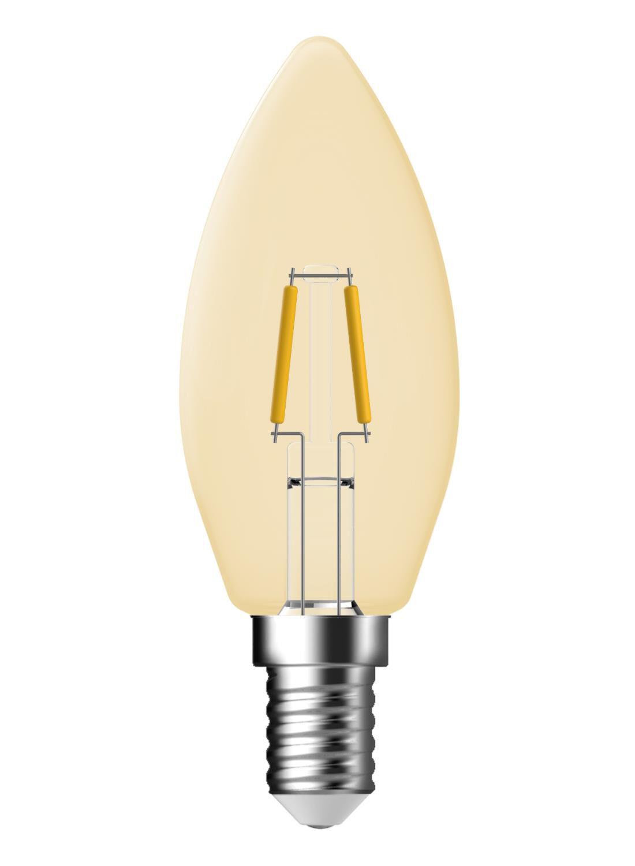 Image of LED Kaarslamp Goud Helder 1,2 Watt - Kleine Fitting - 100 Lumen