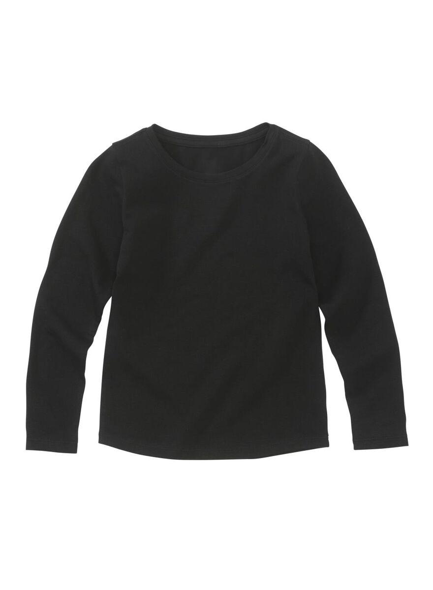 kinder t-shirt basic zwart zwart - 1000013503 - HEMA