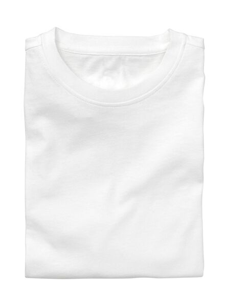 2-pak heren t-shirts regular-fit wit wit - 1000005961 - HEMA
