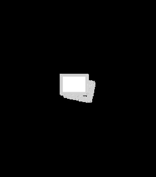 Dagaanbieding - bloempot - 13.5 x Ø 13.5 cm - zwart/wit keramiek stip dagelijkse koopjes